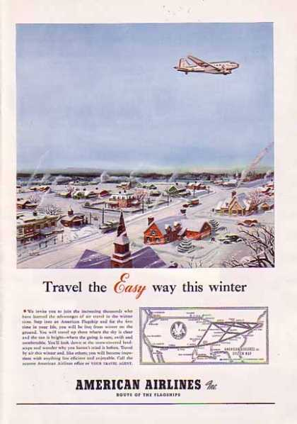 American Airlines Christmas – System Map (1940)