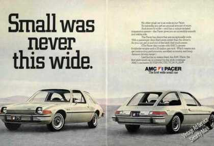 "Amc Pacer ""Small Was Never This Wide"" Rare (1975)"