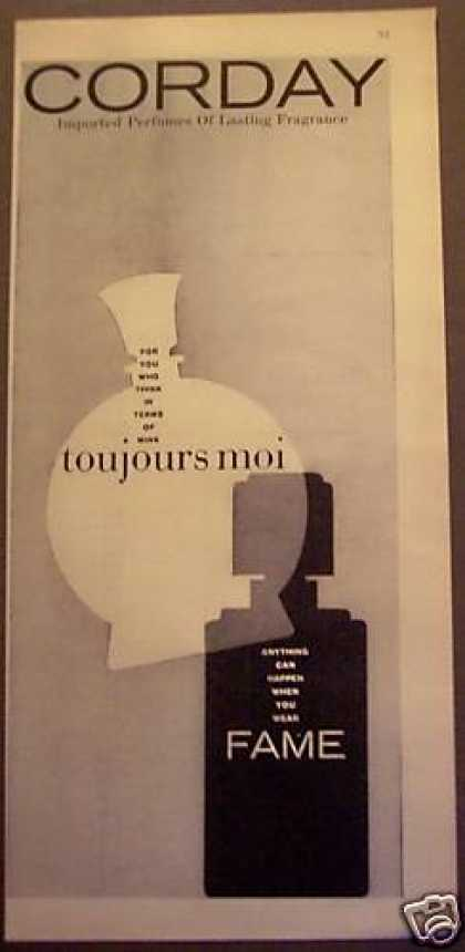 Toujours Moi, Fame Perfumes By Corday (1956)