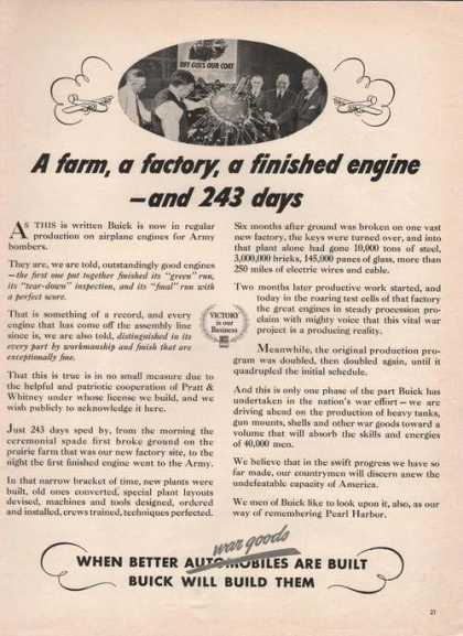 Farm Factory Finished Engine Buick (1942)