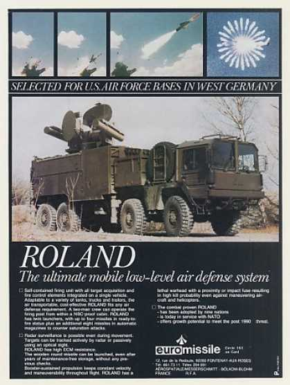 Euromissile Roland Mobile Missile System Photo (1984)