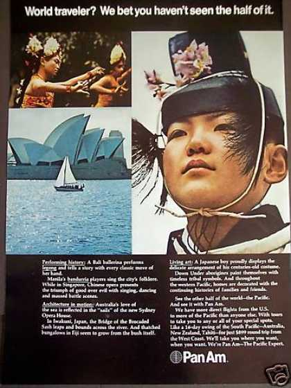 Pan Am Airline To Bali Manila Japan Travel (1971)