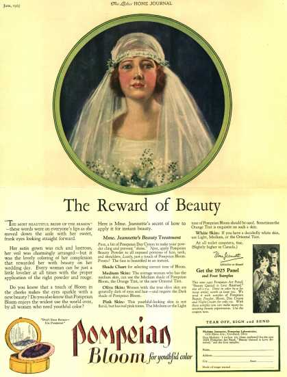 Pompeian Bloom's rouge – The Reward of Beauty (1925)