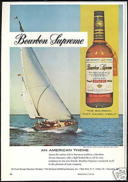 Sailboat Long Island NY Bourbon Supreme (1960)