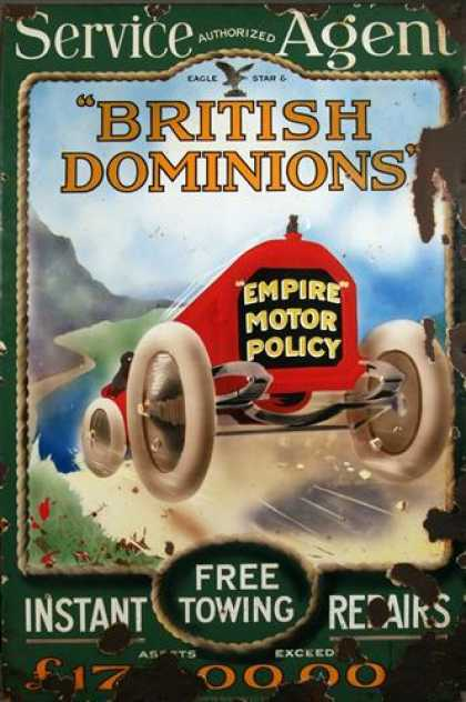 British Dominions enamel advertising sign