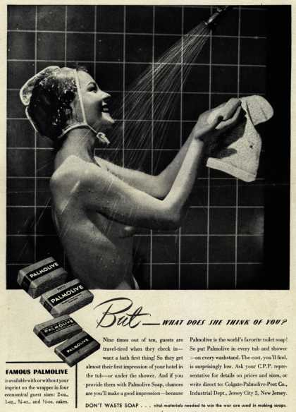 Palmolive Company's Palmolive Soap – But – What Does She Think Of You? (1944)