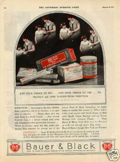 Bauer & Black Bandages Color (1925)