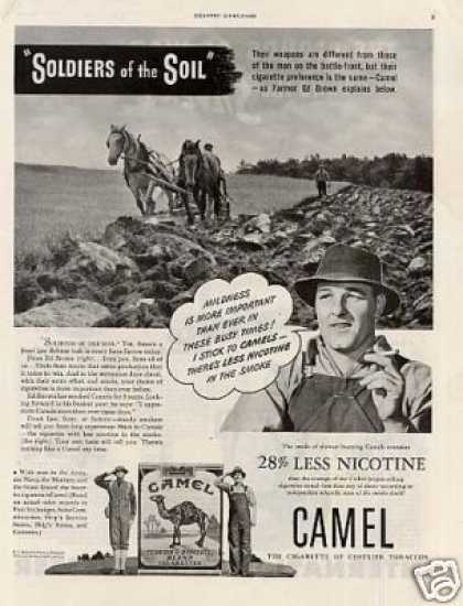 "Camel Cigarettes Ad ""Soldier's of the Soil... (1942)"