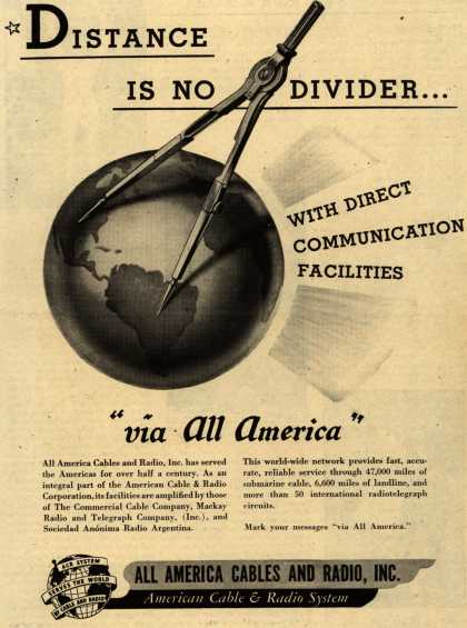 All America Cables and Radio's Company – Distance Is No Divider... (1946)