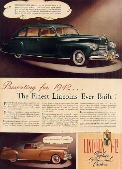 Lincoln Cars (1942)