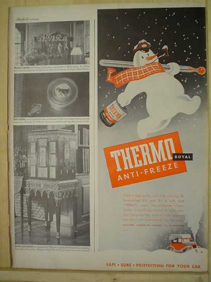 Thermo Anti-Freeze Safe protection Snowman Theme (1944)