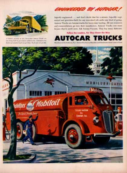 Autocar Trucks Mobile Oil Gas Delivery Truck (1945)