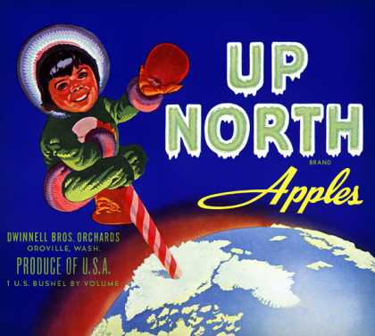 Up North Brand Apples, c. s (1950)