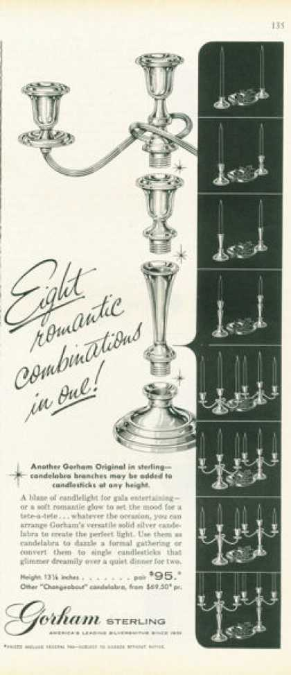 Gorham Solid Silver Candelabrum Photo (1959)