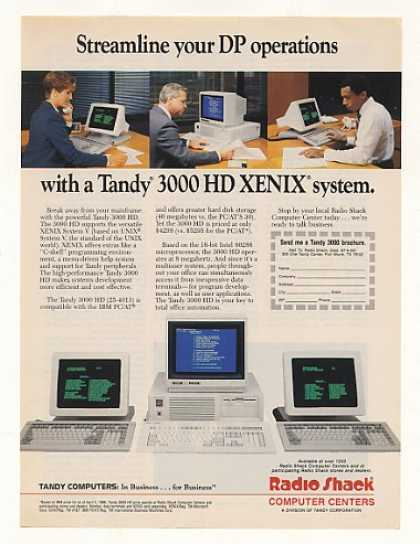 Radio Shack Tandy 3000 HD XENIX Computer System (1987)