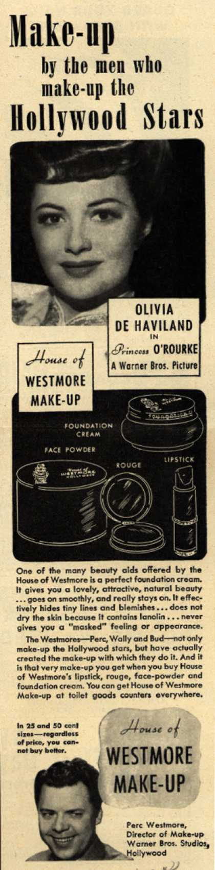 House of Westmore's Cosmetics – Make-up by the men who make-up the Hollywood stars (1944)