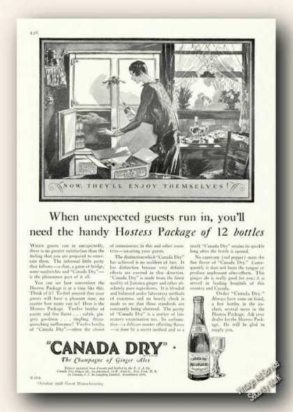Canada Dry Ginger Ale Collectible Antique (1928)