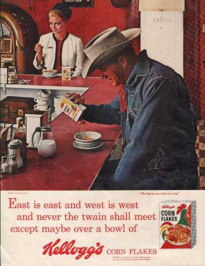 Cowboy Eating Kelloggs Cereal (1964)