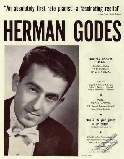 Herman Godes Photo Pianist Trade (1960)