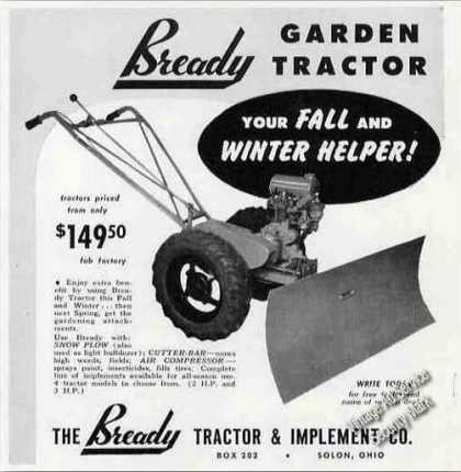 Bready Garden Tractor Photo Solon Oh (1950)