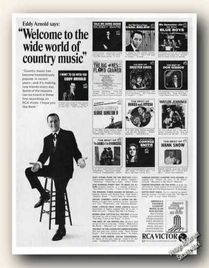 Eddy Arnold Photo Welcome To Country Music Rca (1966)