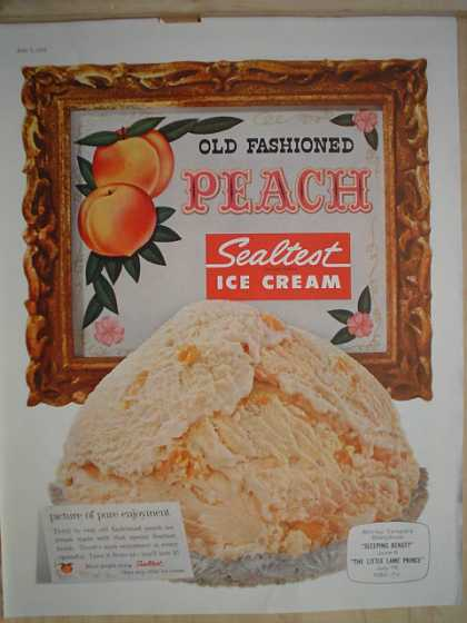 Sealtest Old Fashioned Peach Ice Cream (1958)