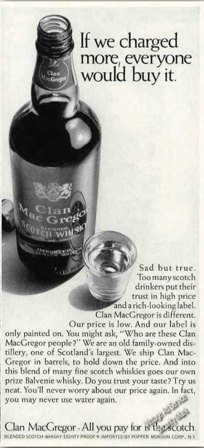 "Clan Macgregor Scotch ""If We Charged More"" (1966)"