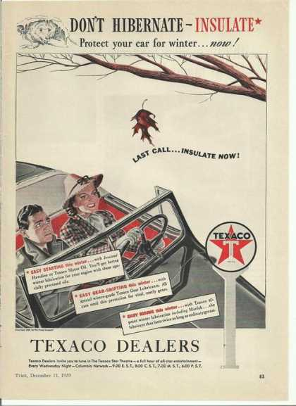 Don't Hibernate Insulate Texaco Dealers (1939)