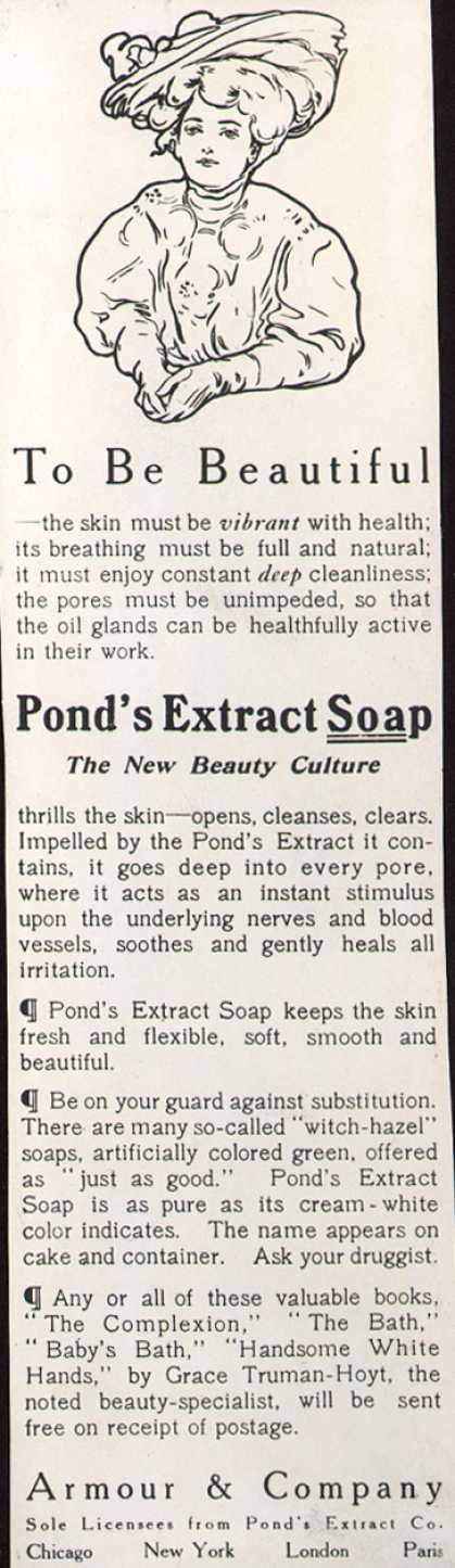 Pond's Extract Co.'s Pond's Extract Soap – To Be Beautiful (1907)