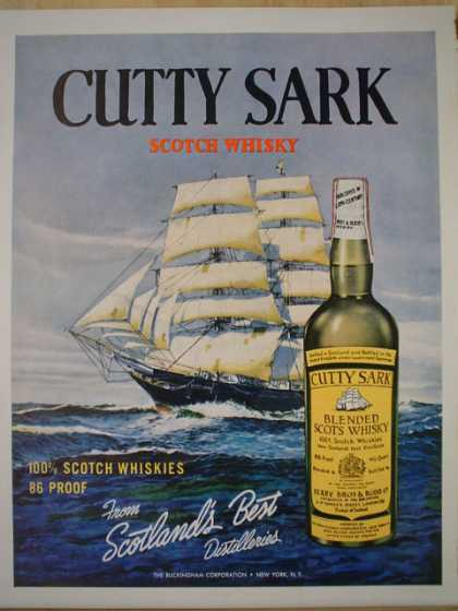 Cutty Sark Whiskey. Scotlands best (1961)