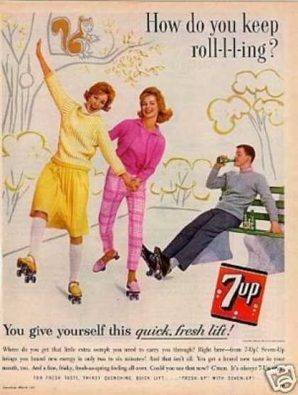 "Seven-up Ad ""How Do You Keep Roll-l-ing... (1962)"