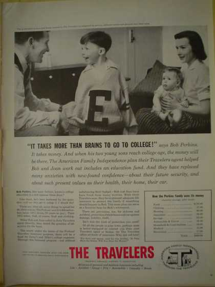 The Travelers Insurance Co It takes more than brains to go to college (1956)