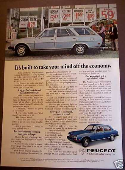 Peugeot 504 Car Take Your Mind Off the Economy (1975)