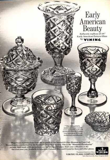 Viking Replica Sandwich Glass Goblet (1972)