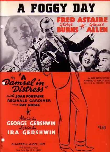 A Foggy Day Sheet Music with Fred Astaire (1937)