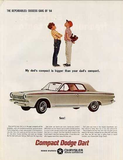 "Dodge Dart Car Ad ""My Dad's Compact... (1964)"
