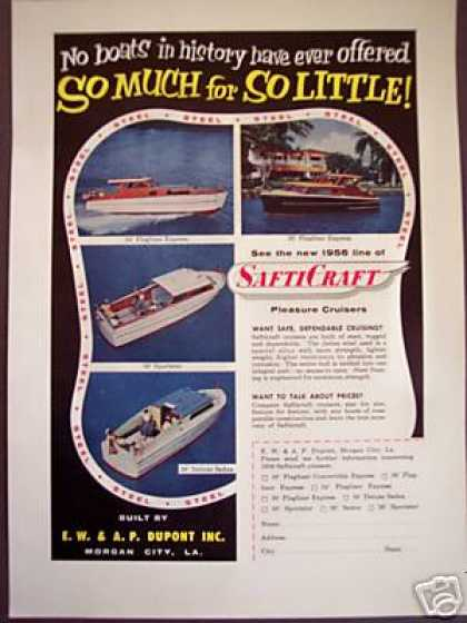 Safticraft Boats 4 Models Photo (1956)