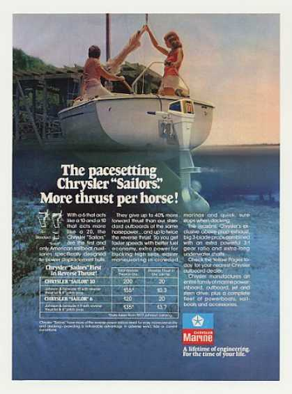 Chrysler Marine Sailor 6 Outboard Boat Motor (1977)