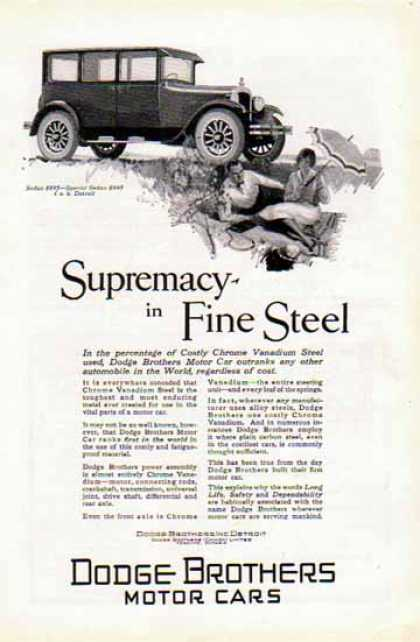Dodge Brothers Car – Supremacy in Fine Steel – Sold (1926)