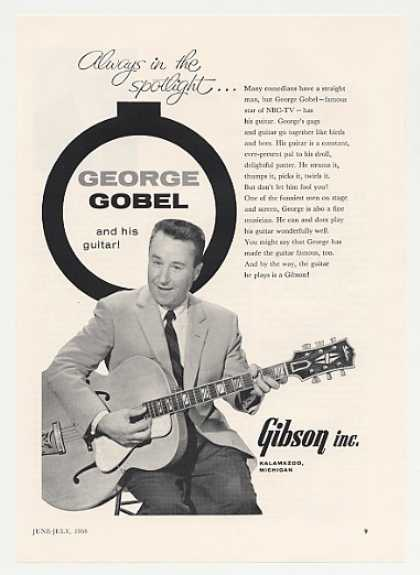 George Gobel Gibson Guitar Photo (1958)