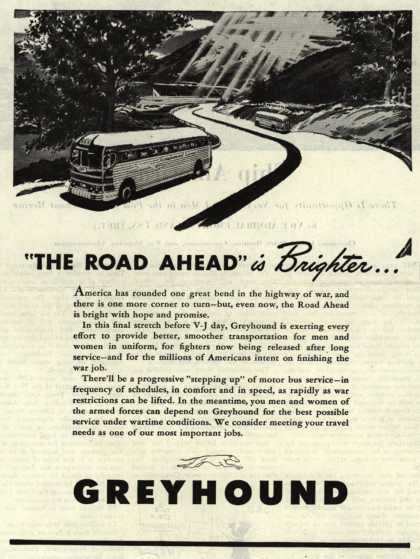 "Greyhound – ""The Road Ahead"" is Brighter... (1945)"