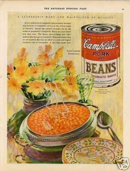 Campbell's Pork and Beans Color (1928)