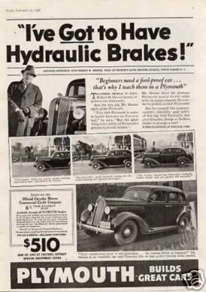 "Plymouth Car Ad ""I've Got To Have... (1939)"