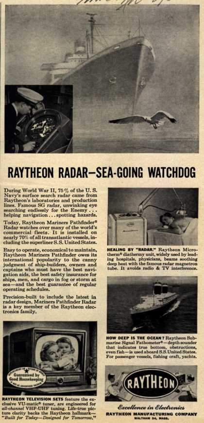 Raytheon Manufacturing Company's Various – Raytheon Radar – Sea-Going Watchdog (1952)