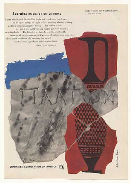 Socrates on Right or Wrong Gyorgy Kepes art CCA (1952)
