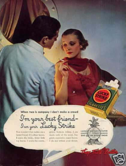 Lucky Strike Cigarettes Color (1935)
