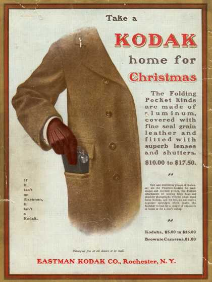 Kodak &#8211; Take a Kodak home for Christmas (1900)