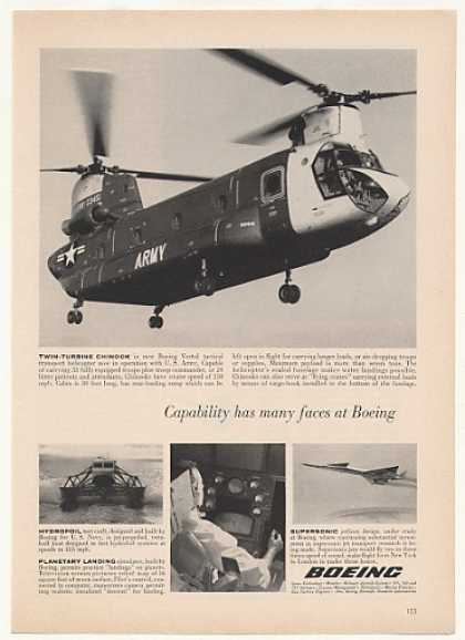 US Army Boeing Twin-Turbine Chinook Helicopter (1963)