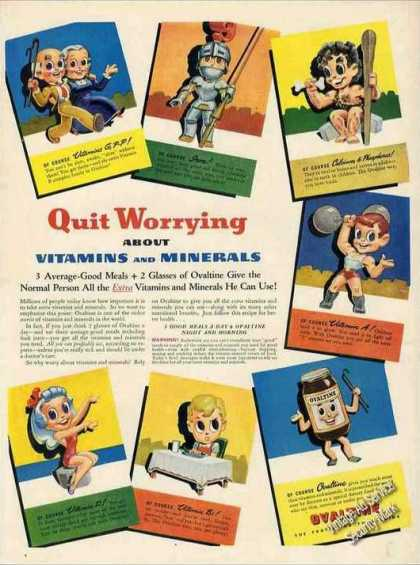 "Ovaltine ""Quit Worrying About Vitamins"" (1943)"