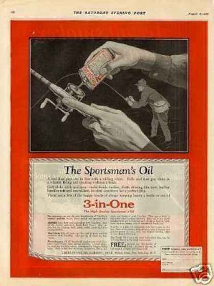 "3-in-one Oil Color Ad ""The Sportsman's Oil... (1925)"